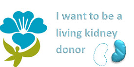 I want to be a living kidney donor