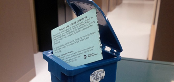 Recycling your blue donor card & registering online means your decision is recorded & available to your family.