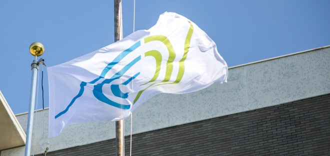The Gift of Life flag flies in honour of deceased and living donors.