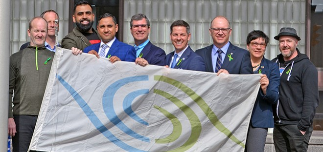 Gift of Life flag raising at City Hall, April 2018